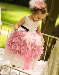 Mon Petit Babett Feather Dress...WOW!
