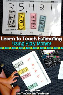 Find out how to teach estimating to any digit using play money. Perfect if you teach fourth grade math. Upper Elementary Resources, Elementary Math, Math Resources, Math Worksheets, Consumer Math, Fourth Grade Math, Third Grade, Play Money, Place Values