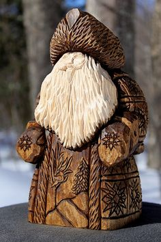 Hand Carved Custom Santa Examples RESERVED by CALaMayCarvings