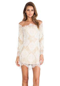 For Love & Lemons Grace Mini Dress in White