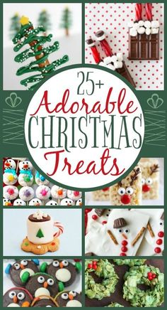 Adorable Kid-Friendly #Christmas Treats | When Christmas time rolls around there are a million treats that you want to bake, eat, buy and share with friends and family. This roundup of treats are not only yummy but adorable too!