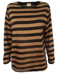 Edith A Miller Striped Boyfriend Long Sleeve Tee