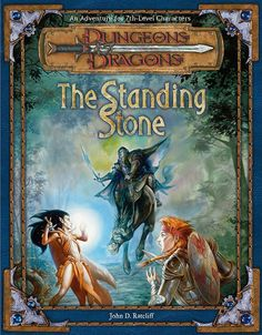 The Standing Stone (3e) | Book cover and interior art for Dungeons and Dragons 3.0 and 3.5 - Dungeons & Dragons, D&D, DND, 3rd Edition, 3rd Ed., 3.0, 3.5, 3.x, 3E, d20, fantasy, Roleplaying Game, Role Playing Game, RPG, Open Game License, OGL, Wizards of the Coast, WotC, TSR Inc. | Create your own roleplaying game books w/ RPG Bard: www.rpgbard.com | Not Trusty Sword art: click artwork for source