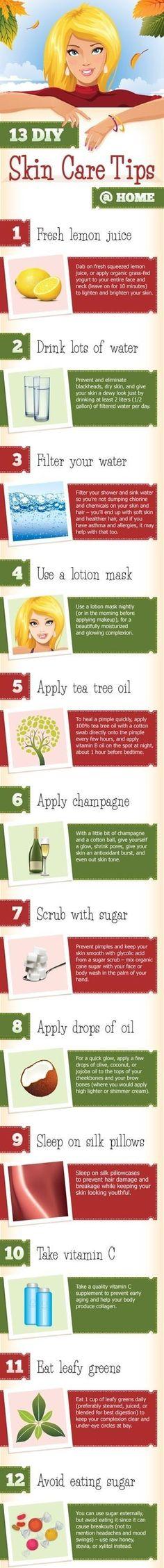 13 Diy Skin Care Tips for You. #SkinCare, $Tips