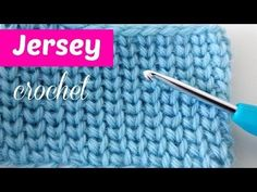 Punto jersey a crochet - YouTube