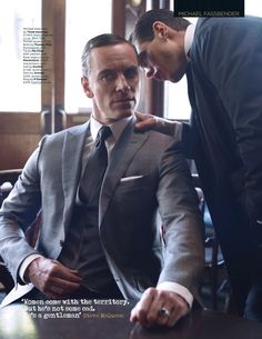 MICHAEL FASSBENDER'S FEBRUARY 2014 BRITISH GQ. If I still had my ovaries they would have exploded by now