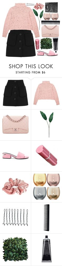 """""""JOIN MY GROUP"""" by taraturk ❤ liked on Polyvore featuring Miu Miu, Chanel, Laura Cole, Alexander Wang, River Island, LSA International, BOBBY, GHD, Grown Alchemist and Monki"""