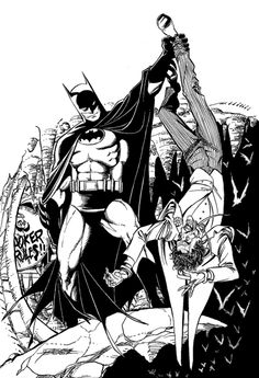 Batman & Joker by George Perez