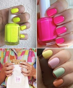 Nail Colors for Spring on Plenty of Colour plentyofcolour.co... #nails