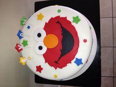Like the name idea 2 Birthday Cake, Elmo Birthday, 6th Birthday Parties, Birthday Ideas, Sesame Street Birthday Cakes, Sesame Street Cake, Elmo Smash Cake, Cake Sizes, Elmo Party