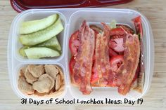 31 Days of School Lunchbox Ideas: Day 19 Whats For Lunch, Lunch To Go, School Lunch Box, School Lunches, Box Lunches, Lunch Boxes, Kids Packed Lunch, Easy Eat, Lunch Snacks