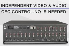 "HydraConnect products such as the HHS-3 8x8 matrix switcher with HDBaseT offer ""highly integrated CEC control for almost all televisions and projectors, BluRay players, and A/V receivers."""