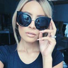 Cheap retro sun glasses, Buy Quality brand sun glasses directly from China designer sun glasses Suppliers: Classic Vintage Cat Eye Rose Gold Mirror Women Stylish Sunglasses Fashion Brand Designer Retro Sun Glasses Lady Ray Ban Sunglasses Sale, Quay Sunglasses, Stylish Sunglasses, Cat Eye Sunglasses, Mirrored Sunglasses, Sunglasses Women, Sunnies, Sunglasses Outlet, Black Sunglasses