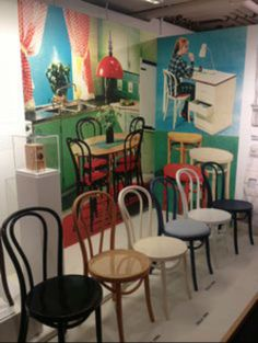 We love these vintage IKEA chairs in the IKEA museum in Älmhult, Sweden!