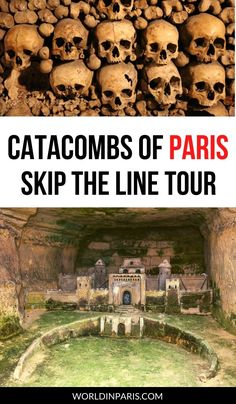 Visit Paris underground with this skip the line Paris Catacombs tour and don't waste your time waiting in line! This Paris Catacombs guided tour is fun, entertaining and it also gives access to restricted areas #paris #france #travel