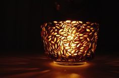 votive candle holder made with recycled by colorstorydesigns, $25.00