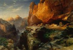 Cliff Dwellers by Thomas Moran Handmade oil painting reproduction on canvas for sale,We can offer Framed art,Wall Art,Gallery Wrap and Stretched Canvas,Choose from multiple sizes and frames at discount price. Nature Paintings, Landscape Paintings, Oil Paintings, Oil Painting On Canvas, Canvas Art, Watercolor Painting, Kentucky, Thomas Moran, Hudson River School