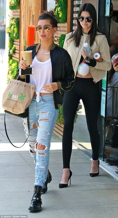 Detox: Kendall Jenner and Hailey Baldwin were spotted buying healthy drinks at Kreation in Beverly Hills on Wednesday, after returning from their trip in Cannes and Monaco