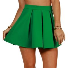 Green Scuba Skater Skirt (11 AUD) ❤ liked on Polyvore featuring skirts, bottoms, green, circle skirts, pleated skater skirt, pleated skirts, pleated circle skirt and knee length pleated skirt