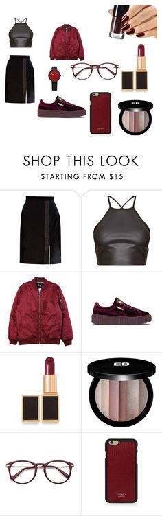 """""""red velvet"""" by selmaahammar on Polyvore featuring mode, Brooks Brothers, Stussy, Puma, Tom Ford, Edward Bess en Vianel"""