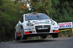 Bonifacio Bruno in a Fiat Abarth Grande Punto during 2011 Rally del Friuli Venizia Giulia