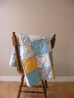 A Heart-Stitched Baby Rag Quilt {Tutorial}