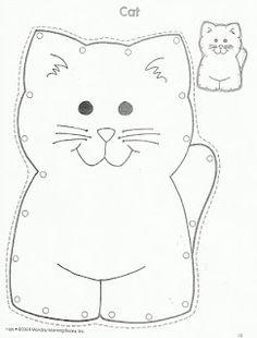 Pets-Cat lacing card