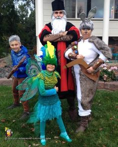 Cool Homemade Rise of the Guardians Family Costume