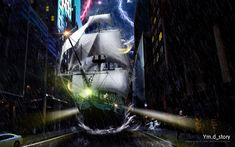 Photoshop Artwork #03 - Storm of Ship :: Ym.d_story