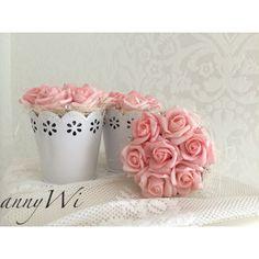 Deco, Rosen, Wedding Hochzeit weiss Shabby Vintage Landhausstil deko annyWi rosa