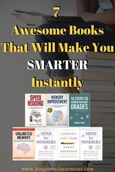 7 Awesome Books That Will Make You Smarter Instantly – Books for Greatness How To Become Smarter, How To Read Faster, Learn Faster, How To Make, Mental Map, Foreign Words, Speed Reading, Learning Techniques, Good Grades
