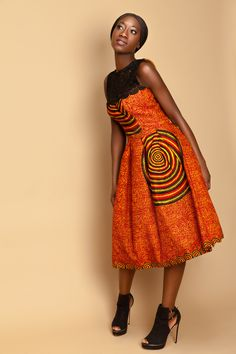 Sana Orange Sunshine . African Inspired Fashion African Inspired Fashion, African Fashion, Sunshine, Style Inspiration, Summer Dresses, Orange, Womens Fashion, Design, Summer Sundresses