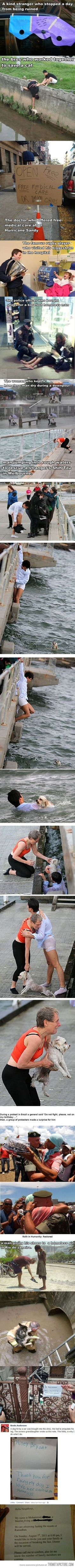Moments that restored my faith in humanity. Tears