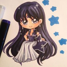 Chibi of Mistress 9 (manga version) from Sailor Moon! It's been awhile since my…