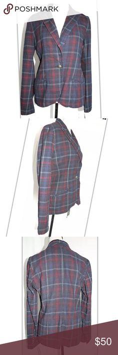 Lauren Ralph Lauren Blazer plaited blue, sz 10 New with tags , great condition, button detailing wrist Lauren Ralph Lauren Jackets & Coats Blazers