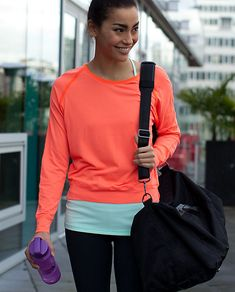2488c762d8f another case for orange. Lulu Techni-Cool LS Cute Workout Outfits