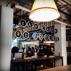 Café at Foyles bookstore, what a great typewriter-inspired sign!