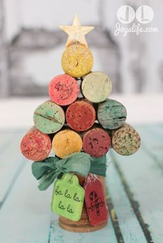 Wine Cork #Christmas Tree using #FaberCastell #Gelatos