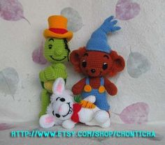 BAMSE and FRIENDS  PDF crochet pattern by Chonticha on Etsy, $12.50