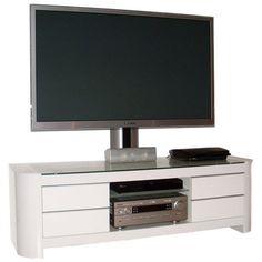 TV RACK INKL. HALTER MOBÜLER EXC144HSWW HOCHGLANZ WEISS TV BOARD In Möbel U0026  Wohnen,