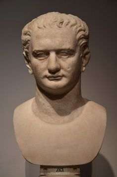 Bust of Roman Emperor Domitian (reign: 81 – 96 CE). This portrait type was created on the occasion of Domitian's accession to power. (Altes Museum Berlin)