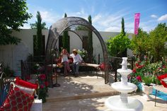 See related links to what you are looking for. Hampton Court Flower Show, Paradise Garden, Lotus Design, Hanging Chair, Metal Working, Tourism, Landscape, Flowers, Image