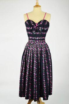 Mela black and floral dress