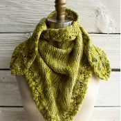 Botany Kerchief  | free knitting pattern via @Craftsy