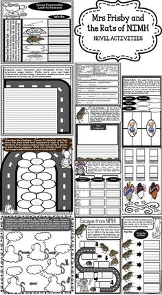 Free worksheets for mrs frisby and the rats of nimh vocab mrs frisby and the rats of nimh novel activities fandeluxe Gallery