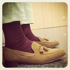 76644f4261a SUEDE TASSEL LOAFERS STYLE  bcnpreppy