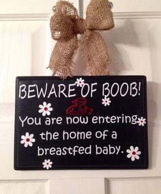 Nursing breastfeeding baby door hanger by EverythingPersonaliz