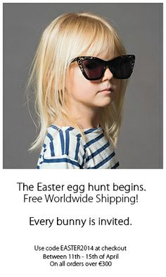 FREE Easter Shipping at www.sunglasscurator.com