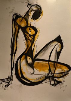 carmeljenkin-art:  Drawing by Carmel Jenkin Self Investment, charcoal and acrylic on paper, 81cm x 57cm I try to…draw more and….worry less F...