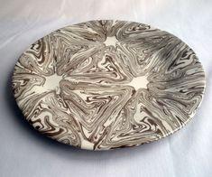 Agateware plate from Kim's Kiln